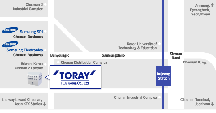 Map Print - Cheonan Branch | TORAY::